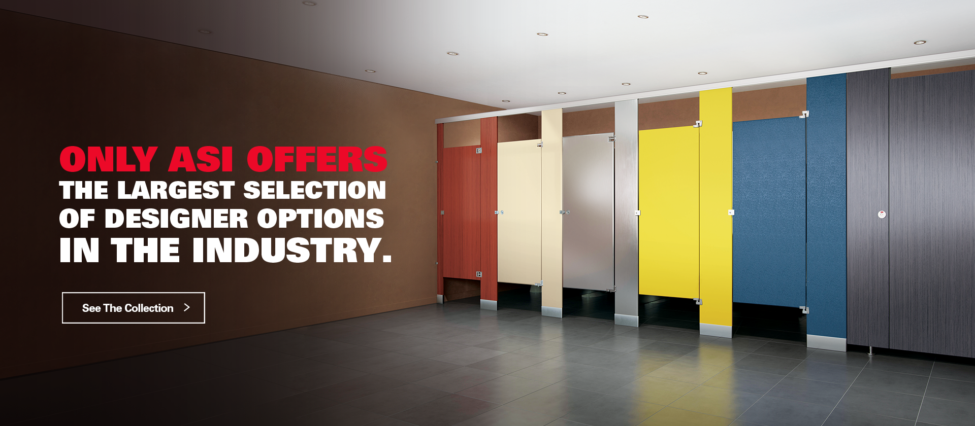 ASI Global Partitions ASI Global Partitions - Solid plastic bathroom partitions